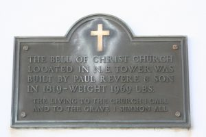 Christ Church Revere Bell Plaque