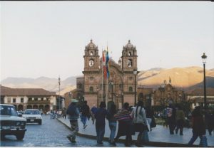 View of the Basilica of Our Lady of the Assumption in Cuzco