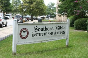 First Baptist Church of Augusta Southern Bible Institute Sign