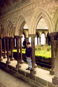 Cloisters of Mont Saint Michel Abbey