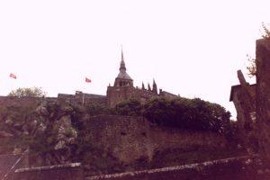 Village View of Abbey on Mont Saint Michel