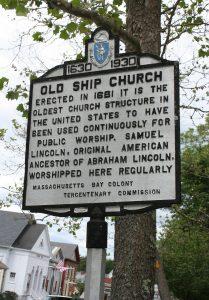 Old Ship Church Historic Marker