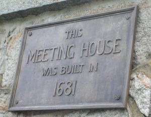 Old Ship Church Historic Plaque