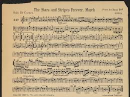 """Stars and Stripes Forever"" Original Sheet Music"