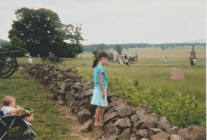 Gettysburg Battlefield (daughter Emily center, daughter Natalie bottom left)