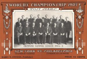 1905 World Series Card (wikipedia.com)