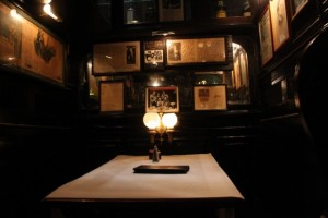 Booth at Pete's Tavern