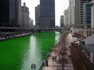 Chicago River Dyed Green (wikipedia.com)