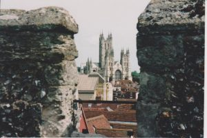 View of Canterbury Cathedral Steeples
