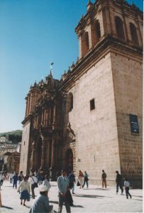 Belltower of Basilica of Our Lady of the Assumption in Cuzco