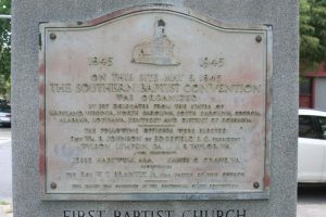 First Baptist Church of Augusta Southern Baptist Convention Plaque