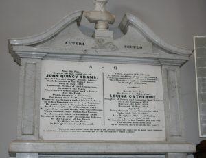 United First Parish Church of Quincy John Quincy Adams Memorial