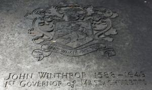 King's Chapel Boston John Winthrop Grave
