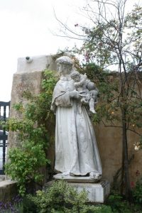 Statue of Saint Anthony of Padua at Mission Carmel