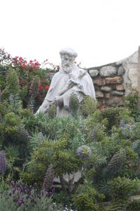 Statue of Saint John the Baptist at Mission Carmel
