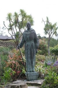 Missionary Statue at Mission Carmel