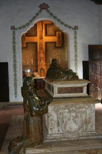 Tomb of Father Serra at Mission Carmel