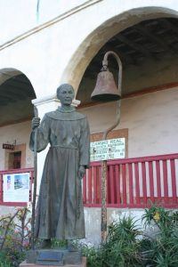 Missionary Statue at Mission Santa Barbara