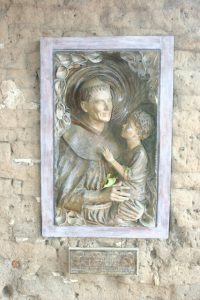 Relief of Saint Christopher at Mission Carmel