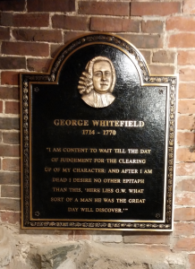 Old South First Presbyterian Church of Newburyport George Whitefield Tomb Marker