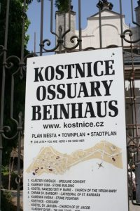 Sedlec Bone Church Sign