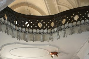 Skull Hangings in Sedlec Bone Church