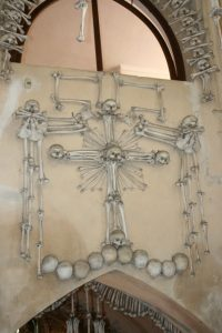Cross in Sedlec Bone Church