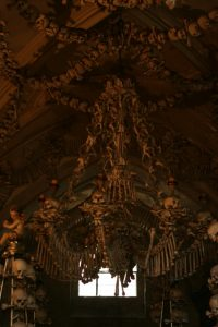 Chandelier in Sedlec Bone Church