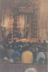 Papal Altar and Baldachinno in St. Peter's Basilica