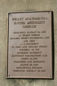 Welsey Monumental United Methodist Church Historic Sign
