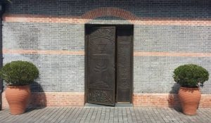 Synagogue Bronze Entryway