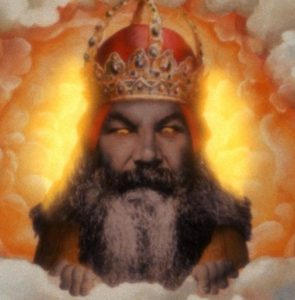 God as depicted in Monty Python and the Holy Grail Terry Gilliam