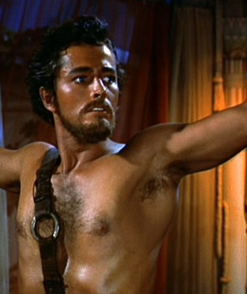"John Derek as Joshua in ""The Ten Commandments"""